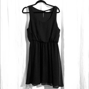 LIKE NEW - LUSH black elastic waist cocktail dress